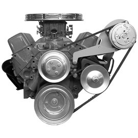 Alan Grove Components Compressor Bracket - SBC - Long Water Pump - Driver Side - 119L