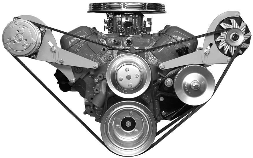Compressor Bracket - Big Block Chevy - Long Water Pump - Passenger Side -  122R