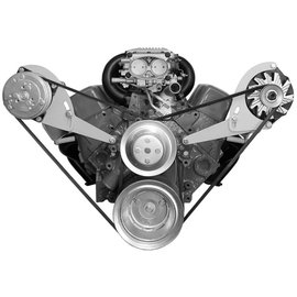 Alan Grove Components Compressor Bracket - Small Block Chevy - Long Water Pump - Passenger Side - 123R