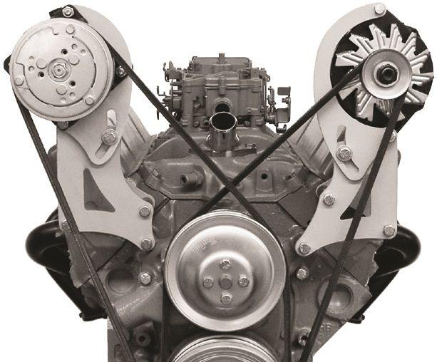 Compressor Bracket - Small Block Chevy VORTEC - Short Water Pump -  Passenger Side - 129R