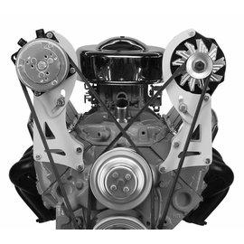 Alan Grove Components Compressor Bracket - SBC VORTEC - Short Pump - Pass Side - 129R-Tall