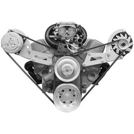 Alan Grove Components Compressor Bracket - Small Block Chevy - Short Water Pump - Passenger Side - 133R