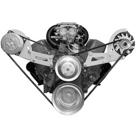 Alan Grove Components Compressor Bracket - Small Block Chevy VORTEC - Long Water Pump - Passenger Side - 135R
