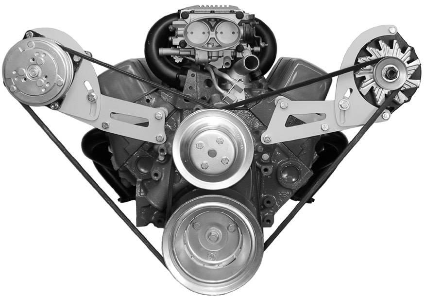 Compressor Bracket - Small Block Chevy VORTEC - Long Water Pump - Passenger  Side - 135R