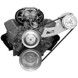 Alan Grove Components Compressor Bracket - SBC - Long Water Pump - Driver Side - 137L