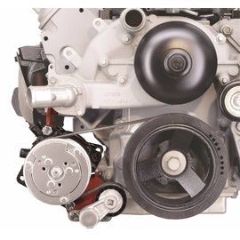 Alan Grove Components Compressor Bracket - LS Camaro - Low Mount - Passenger Side - 143R
