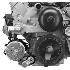 Alan Grove Components Compressor Bracket - LS Corvette - Low Mount - Passenger Side - 144R