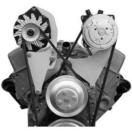 Alan Grove Components Alternator Bracket - Small Block Chevy - Long Water Pump - Passenger Side - 201R