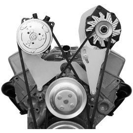 Alan Grove Components Alternator Bracket - Small Block Chevy - Long Water Pump - Driver Side - 203L