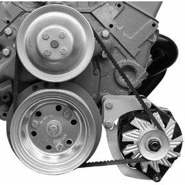 Alan Grove Components Alternator Bracket - SBC - Low Mount - Short Water Pump - Driver Side - 206L