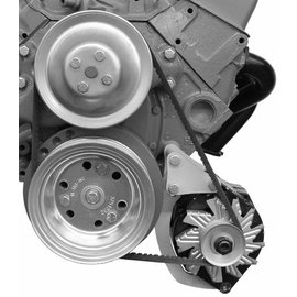 Alan Grove Components Alternator Bracket - SBC - Low Mount - Short Water Pump - Driver Side - 207L