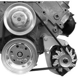 Alan Grove Components Alternator Bracket - Big Block Chevy - Low Mount - Short Water Pump - Driver Side - 208L