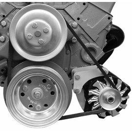 Alan Grove Components Alternator Bracket (CS130) - SBC - Low Mount - Short Water Pump - Driver - 209L