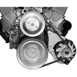 Alan Grove Components Alternator Bracket - SBC - Low Mount - Long Water Pump - Driver Side - 214L