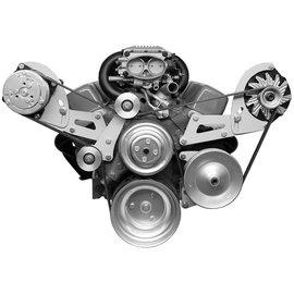 Alan Grove Components Compressor & Alt Bracket - SBC - LWP - Serpentine (reverse rotation) - 307