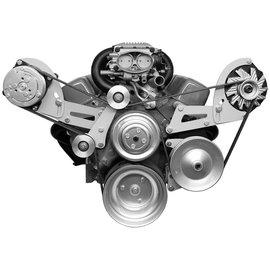 Alan Grove Components Compressor & Alt Bracket - SBC - LWP - Serpentine (reverse rotation) - 308