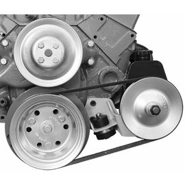 Alan Grove Components Power Steering Bkt - SBC - Short Pump(55-57 Pass & 55 Trk) Dr Side-404L
