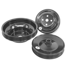 Alan Grove Components Pulley Set with Power Steering - Small Block Chevy - Long Water Pump - 510