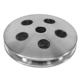 Alan Grove Components Power Steering Pulley (Press Fit) - 1 Groove - Aluminum - 17mm - 512