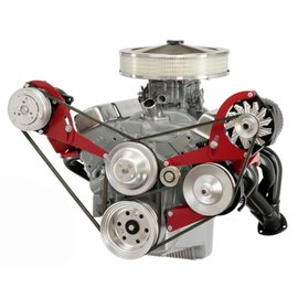 Alan Grove Components Alternator & Power Steering Bracket - Small Block Chevy - Short Water Pump - (64-68 Chevelle/El Camino) - Drivers Side - 600L