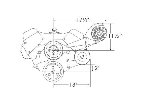 alan grove components alt & ps bracket bbc swp (64-68 chevelle/el