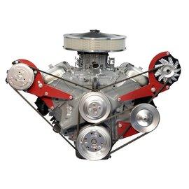 Alan Grove Components Alternator & Power Steering Bracket - Big Block Chevy - Short Water Pump - (64-68 Chevelle/El Camino) - Drivers Side - 601L
