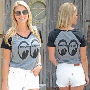 Mooneyes ME 11 - MOON Equipped V-Neck Ladies Raglan