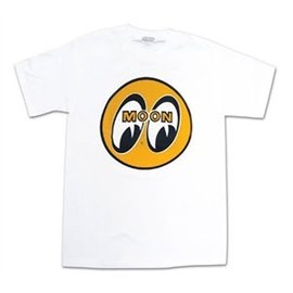 Mooneyes ME 01A - MOON Logo - White