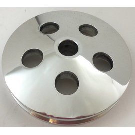 Affordable Street Rods Type II Power Steering Pulley - Polished