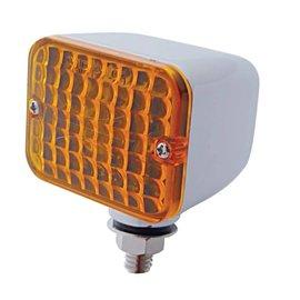 United Pacific Medium Rectangular Auxiliary Light - Amber - #30329