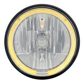 "United Pacific 7"" Headlight with Amber LED Halo Ring - #31284"