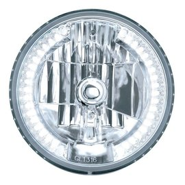 "United Pacific 7"" Headlight with 34 LED Split Halo - White - #31379"