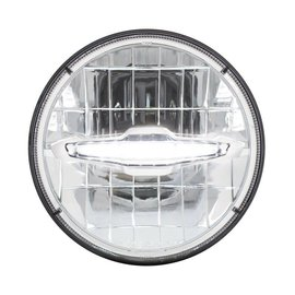 "United Pacific 7"" LED Headlight with 10 LED Daytime Running Light Bar - White - #31513"