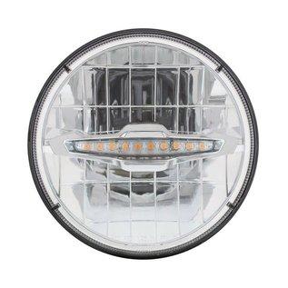 "United Pacific 7"" LED Headlight with 10 LED Daytime Running Light Bar - Amber - #31514"