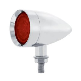 United Pacific 9 LED Dual Function Mini Bullet Light - Red LED/ Red Lens  - #36860