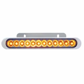 "United Pacific 12 LED 6 1/4"" Auxiliary Strip Light - Amber - #38042"