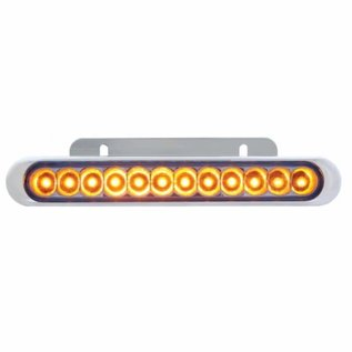 """United Pacific 12 LED 6 1/4"""" Auxiliary Strip Light - Amber - #38042"""