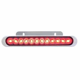 "United Pacific 12 LED 6 1/4"" Auxiliary Strip Light - Red - #38044"