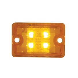 United Pacific Small Rod Light Amber LED Lens Only - Amber - #39511B