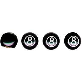 United Pacific Valve Caps - 8 Ball - 70022