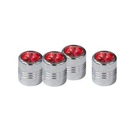 United Pacific Valve Caps - Diamond  - Red - 70059