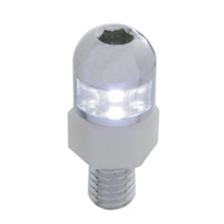 United Pacific 1 LED Fastener   2 piece - White - #70303