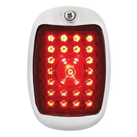 United Pacific 37-38 Chevy LED Tail Light Assembly - Black - RH - C3702RR