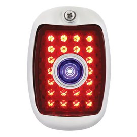 United Pacific 37-38 Chevy LED Tail Light Assembly with Blue Dot - SS - LH - C3704RLBD