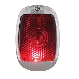 United Pacific 37-38 Chevy Tail Light Assembly - Black Housing - RH - C4008R
