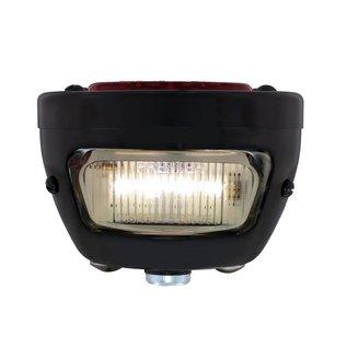 United Pacific 28-31 Ford LED Tail Light Assembly - Black Housing/Black Bezel - LH - FTL2831LED-MAL
