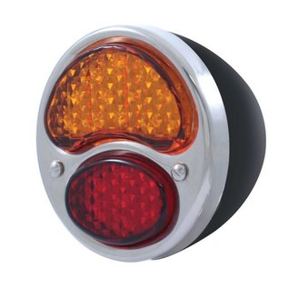 United Pacific 28-31 Ford LED Red/Amber Tail Light Assembly - Black Housing - RH FTL2831RA-BAR