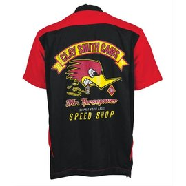 Clay Smith Cams CS 09 - Support Local Speed Shop Bowling Shirt - Red/Black