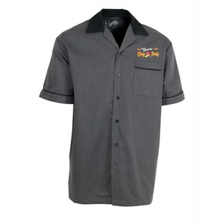 Clay Smith Cams CS 10 - Genuine Clay Smith Cams Bowling Shirt - Black/Gray