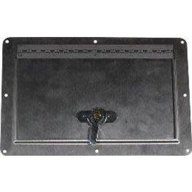"Tanks Inc. Stainless Steel Access Door ID 8-1/8""X4-3/4"" OD 6-1/2""x10"""